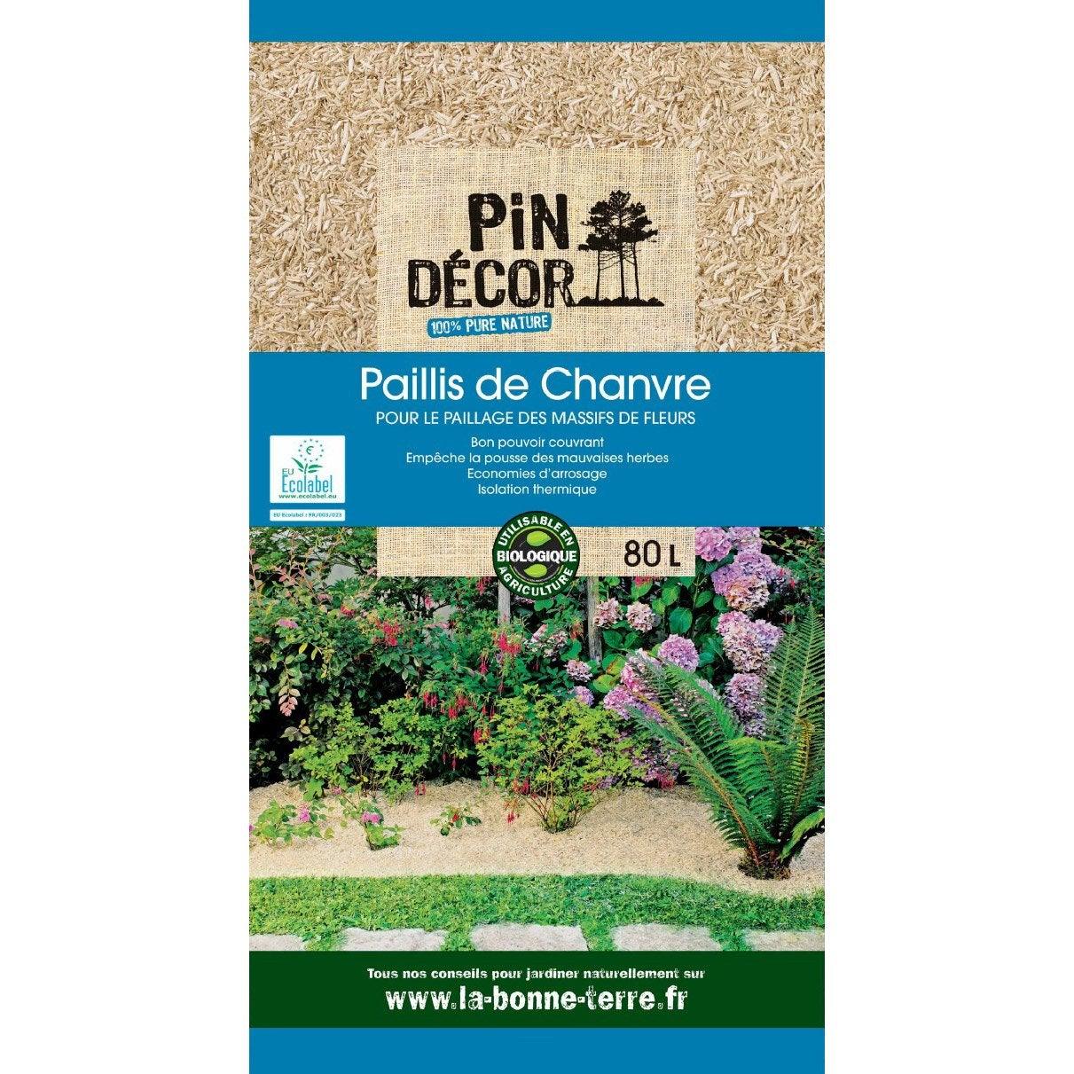 Paillis de chanvre pin decor 80 l leroy merlin - Paillis de lin ...