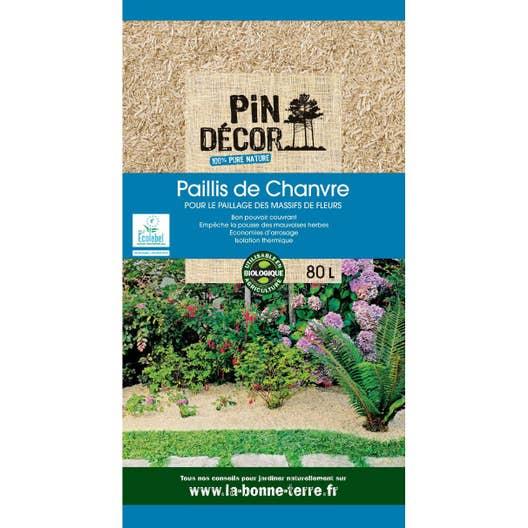 Paillis de chanvre pin decor 80 l leroy merlin - Ecorce de chanvre ...