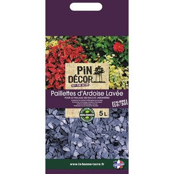 Paillage naturel ecorce pin bille argile copeaux - Paillette d ardoise ...