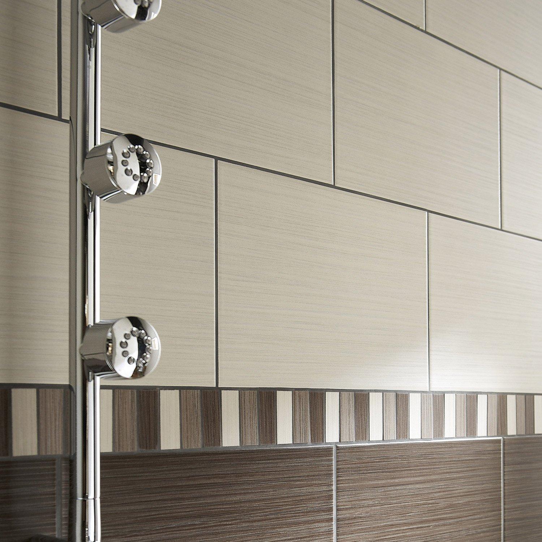 Type De Pose Carrelage Salle De Bain ~ fa ence mur cr me tokyo l 20 x l 30 cm leroy merlin