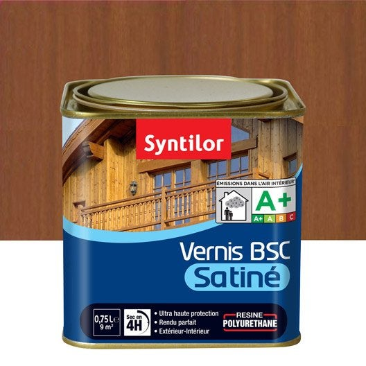 Vernis syntilor vernis bois syntilor 0 75l satin chen moy for Vernis bois exterieur