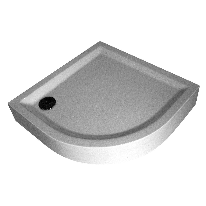 receveur de douche 1 4 de cercle 90 x 90 cm acrylique. Black Bedroom Furniture Sets. Home Design Ideas