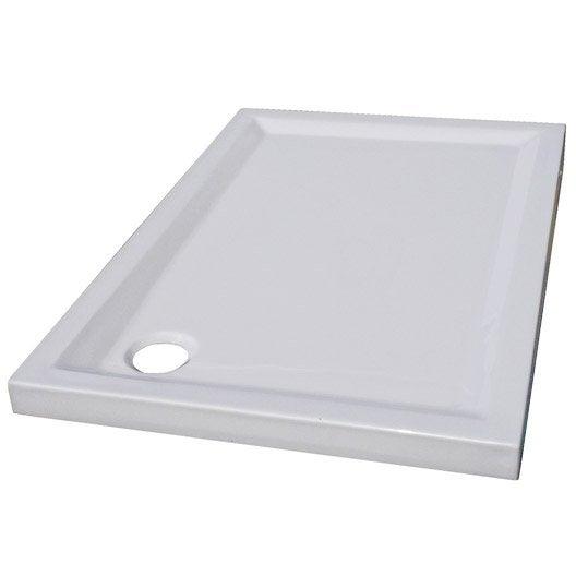 Receveur De Douche Rectangulaire L.100 X L.80 Cm, Acrylique Blanc