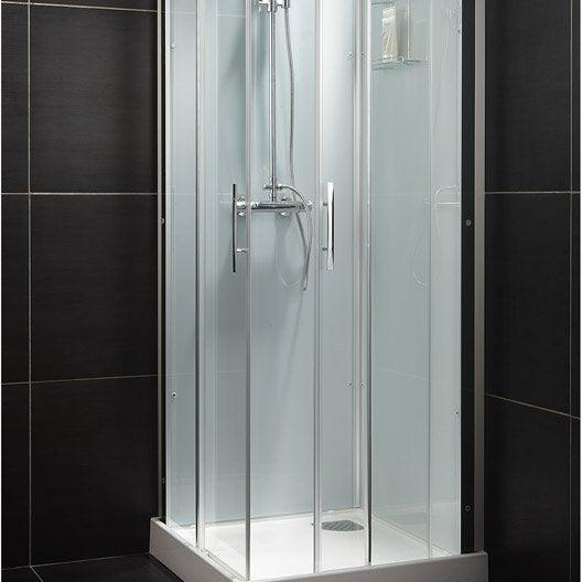 cabine de douche carr 80x80 cm thalaglass 2 thermo leroy merlin. Black Bedroom Furniture Sets. Home Design Ideas