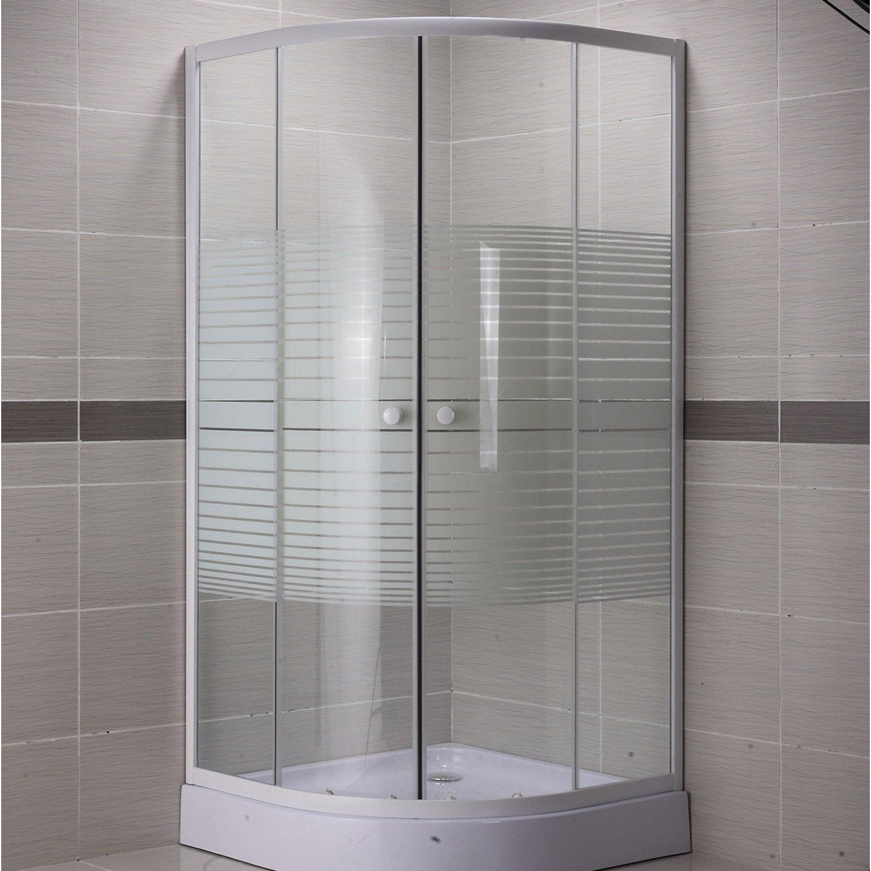 cabine de douche 1/4 de cercle 90x90