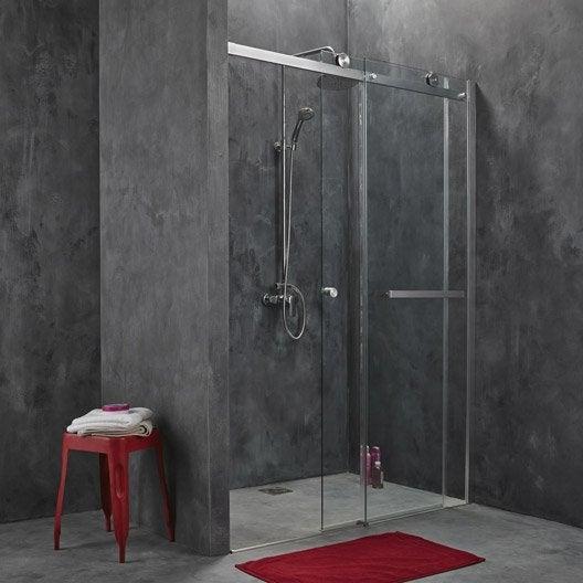 Porte de douche coulissante 157 160 cm profil chrom - Roulement porte de douche coulissante ...