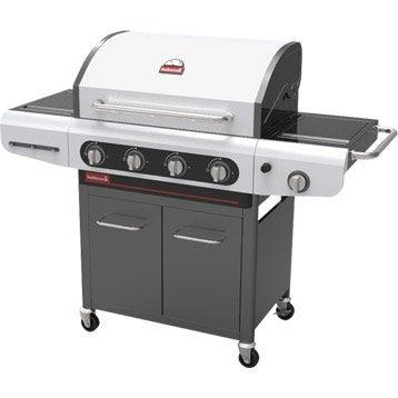 Barbecue au gaz BARBECOOK Siesta 412 4 brûleurs, noir et gris clair