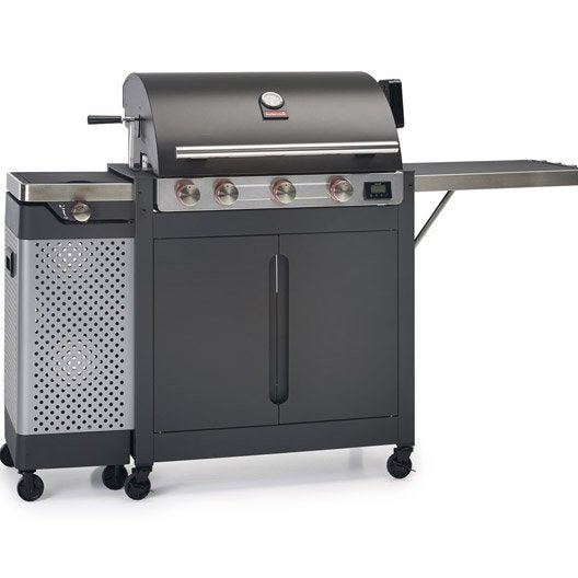 Barbecue au gaz barbecook quisson 4000 4 bruleurs leroy merlin - Barbecue gaz 4 bruleurs ...