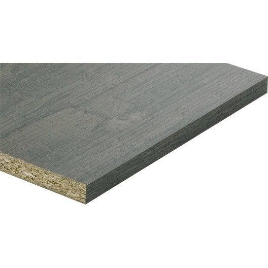 tablette m lamin planche us e noire spaceo x 30 cm p 1 8 cm leroy merlin. Black Bedroom Furniture Sets. Home Design Ideas