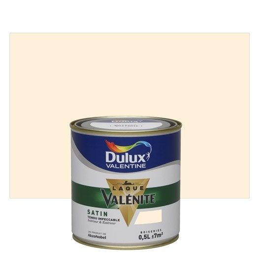 Peinture blanc cass dulux valentine val nite 0 5 l leroy merlin - Peinture blanc casse gris ...