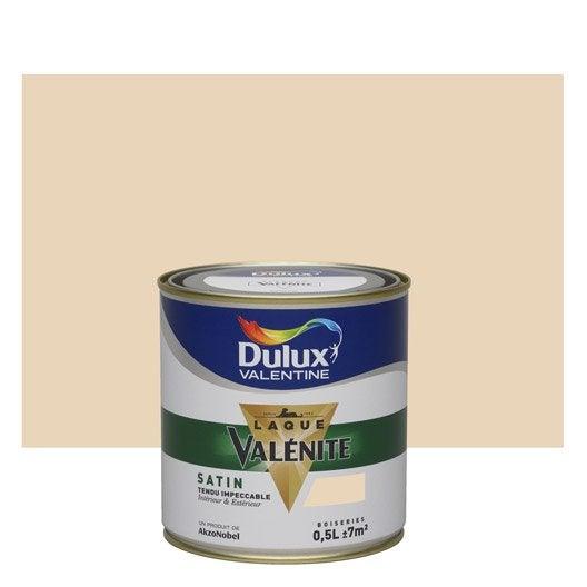 Peinture beige coquille d 39 oeuf dulux valentine val nite 0 5 l leroy merlin for Peinture beige clair