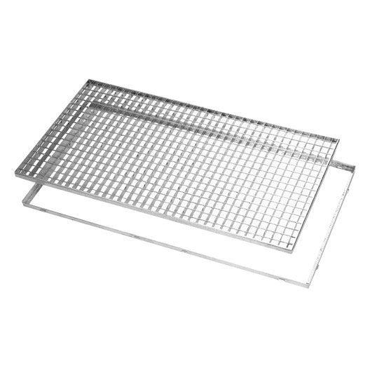 grille caillebotis et cadre acier galvanis x cm. Black Bedroom Furniture Sets. Home Design Ideas