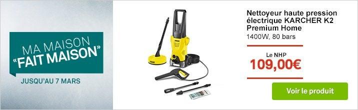 Nettoyeur haute pression électrique KARCHER K2 Premium Home Nouveau,1400W 80bars