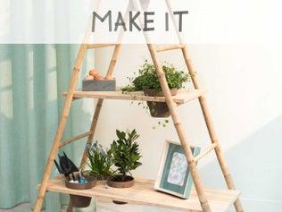 Créer une étagère en bambou