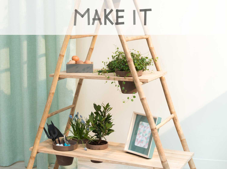DIY : Créer une étagère en bambou