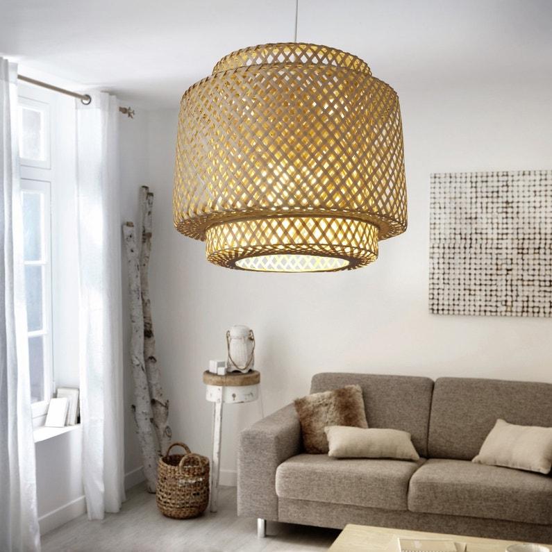 suspension naturelle en bambou qui affiche un look graphique leroy merlin. Black Bedroom Furniture Sets. Home Design Ideas