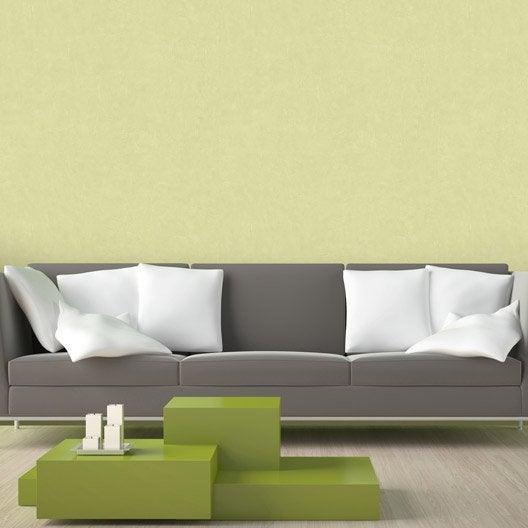 Papier peint intissé Beton mat vert
