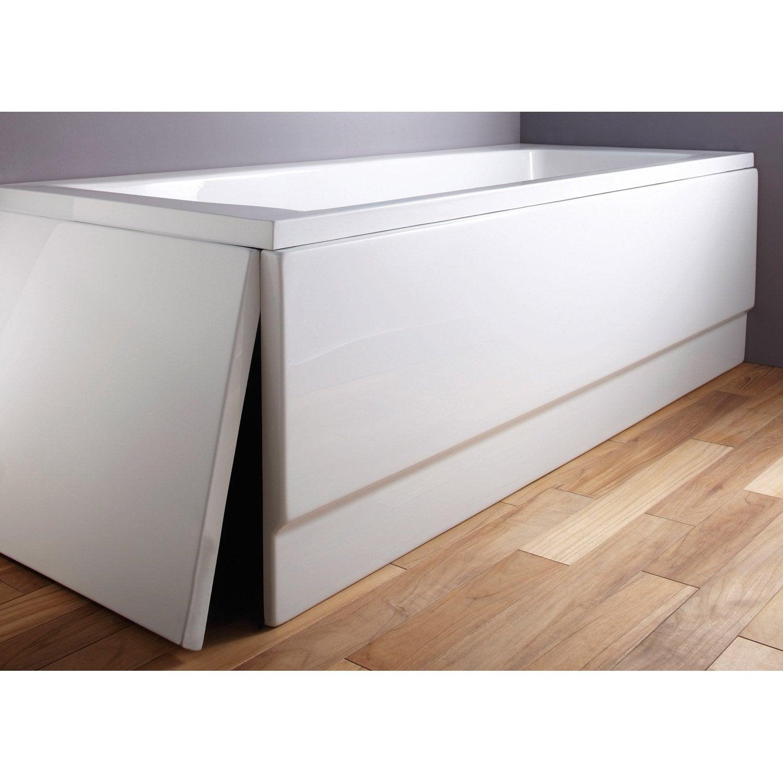 Tablier De Baignoire L 180x L 80 Cm Blanc Sensea Access Confort