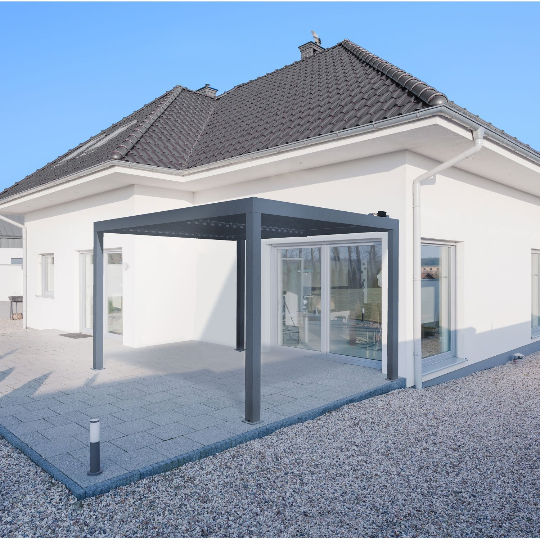 pergola autoportante orient aluminium gris anthracite 12. Black Bedroom Furniture Sets. Home Design Ideas