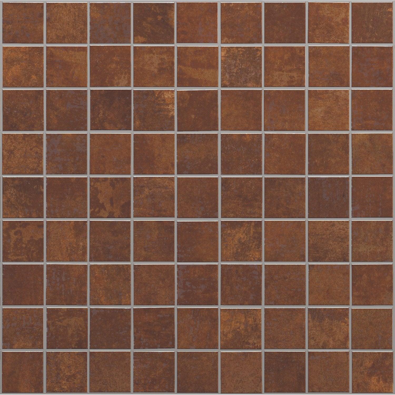 Plaque Sur Carrelage Cuisine bricolage carrelage mosaïque en cuivre cuivre bouton marron