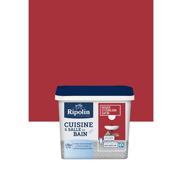 Ripolin leroy merlin for Peinture cuisine rouge