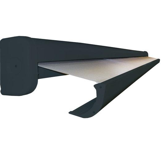 store banne manuel coffre int gral 4 x 3 m manuel t124 gris cambronne leroy merlin. Black Bedroom Furniture Sets. Home Design Ideas