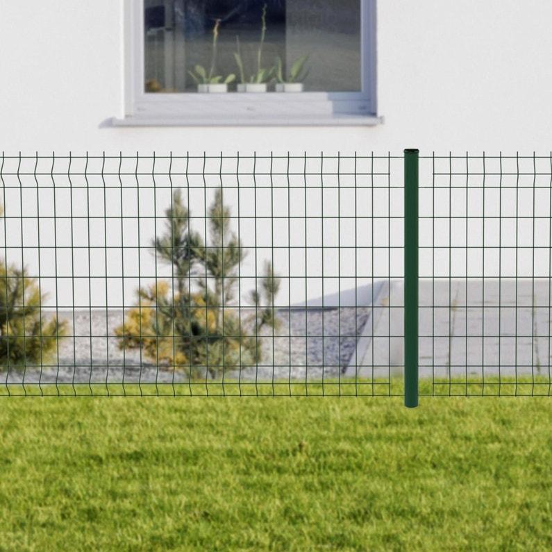 Kit Grillage Rigide 40 M à Sceller Cerista Vert H08 M