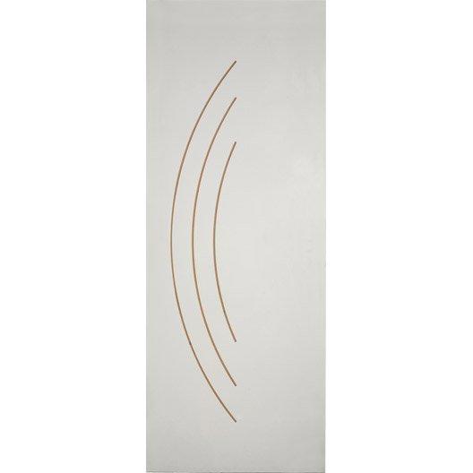 porte coulissante grav e peindre aven 204 x 83 cm leroy merlin. Black Bedroom Furniture Sets. Home Design Ideas