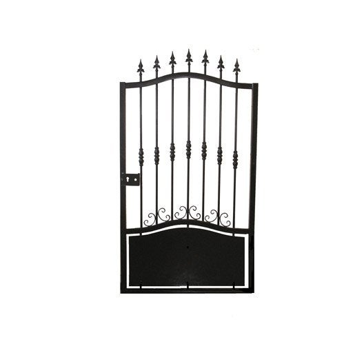 Portillon battant rossignol noir leroy merlin for Portillon de jardin en fer