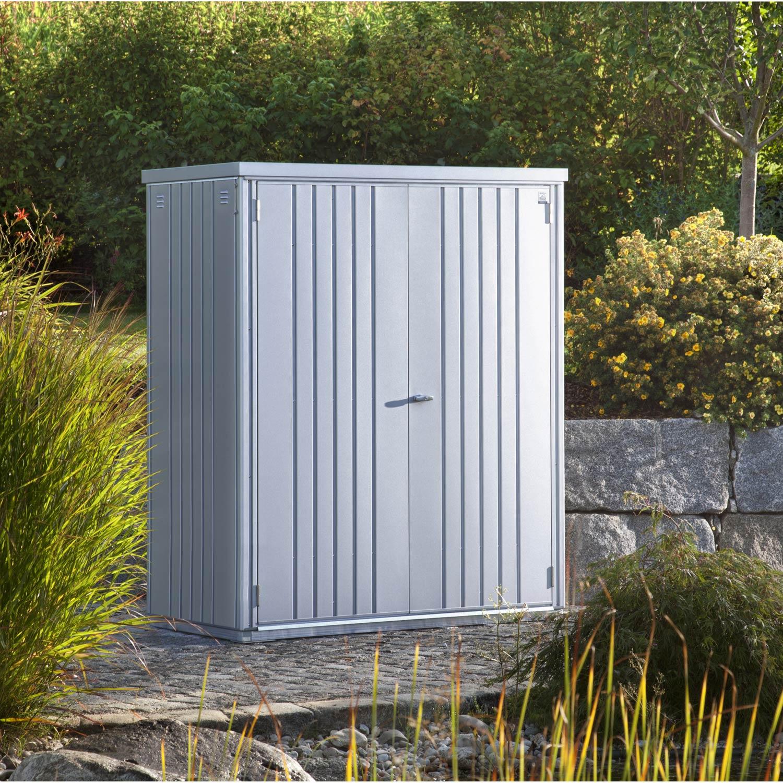 armoire-de-jardin-metal-argent-metallique-l-155-x-h-182-x-p-83-cm Incroyable De Armoire De Jardin Ikea Des Idées
