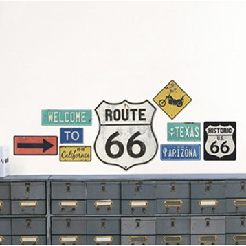Sticker Route 66 49 Cm X 69