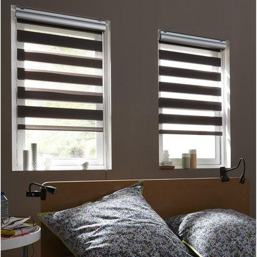store enrouleur jour nuit coffre alu gris anthracite 120x210 cm leroy m. Black Bedroom Furniture Sets. Home Design Ideas