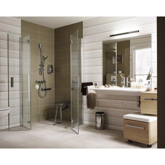 Porte de douche pivot pliant angle carr x cm - Leroy merlin salle de bains 3d ...