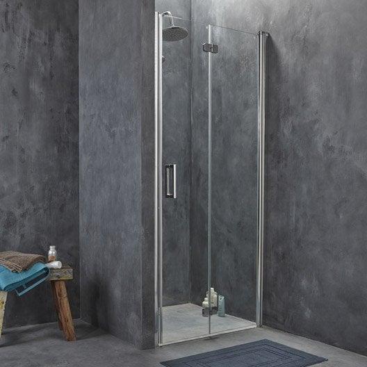 porte de douche pivot pliant 78 82 cm profil chrom entra droite leroy merlin. Black Bedroom Furniture Sets. Home Design Ideas