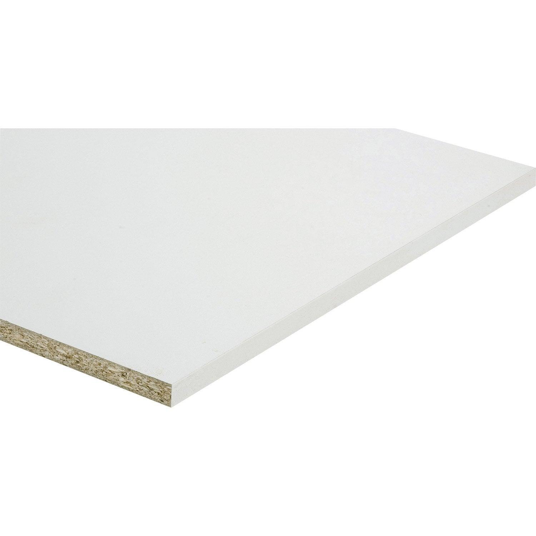 Tablette Prépercée Mélaminé Super Blanc Spaceo L250 X L50 Cm X Ep18 Mm