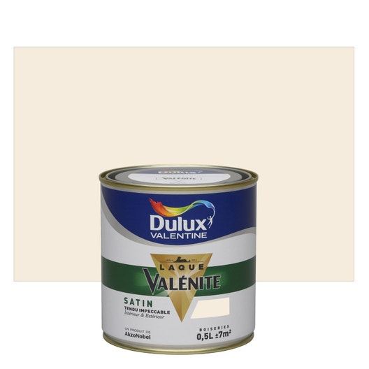 peinture lin clair satin dulux valentine val nite 0 5 l leroy merlin. Black Bedroom Furniture Sets. Home Design Ideas