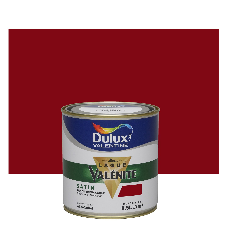 Vanite Salle De Bain Bf ~ Peinture Rouge Basque Satin Dulux Valentine Val Nite 0 5 L Leroy