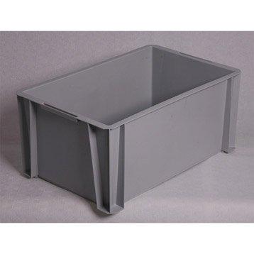 Boite de rangement boite plastique pin carton leroy - Casier rangement leroy merlin ...