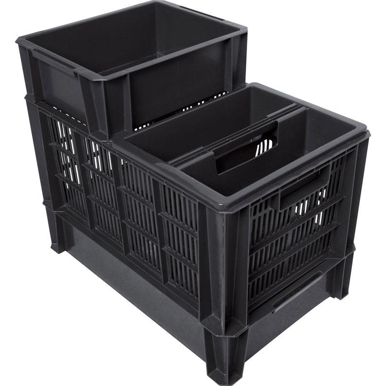 taille 40 2e353 08636 Bac de manutention Stacking box plastique , l.35 x P.27.5 x H.12 cm