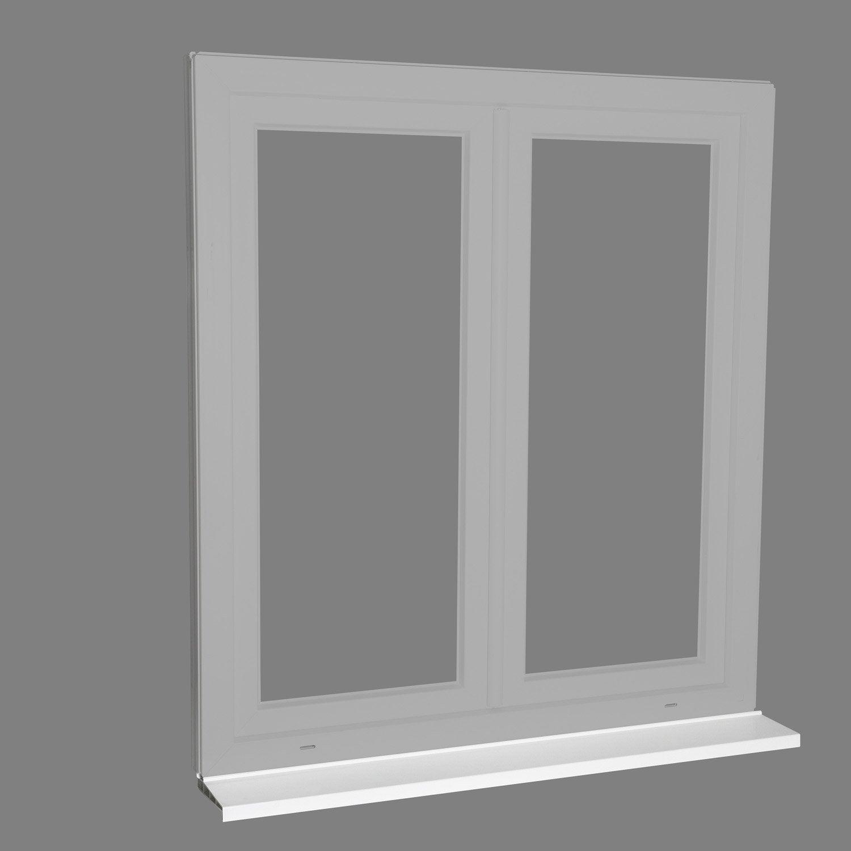 Bord De Fenetre Interieur pièce d'appui pvc blanc pour fenêtre et porte fenêtre, long. 1,45m