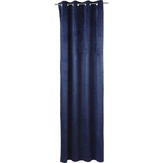 rideau grande hauteur blair bleu marine x cm leroy merlin. Black Bedroom Furniture Sets. Home Design Ideas