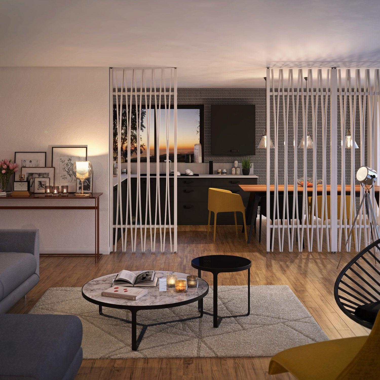 cloison de s paration jack m dium divers r sineux et feuillus blanc leroy merlin. Black Bedroom Furniture Sets. Home Design Ideas