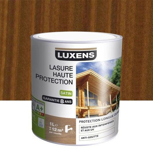 lasure luxens haute protection 1 l ch ne rustique leroy merlin. Black Bedroom Furniture Sets. Home Design Ideas