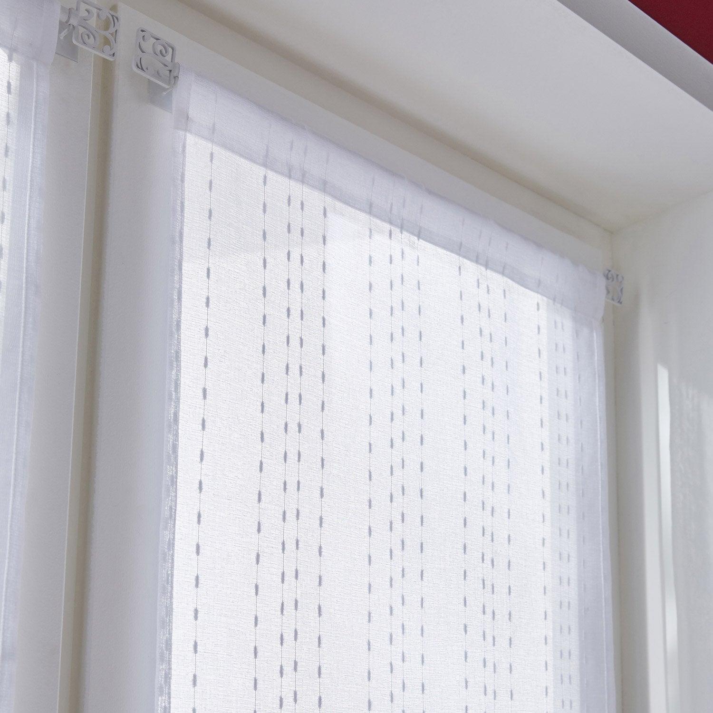 Vitrage tamisant, Livia, blanc, l.90 x H.210 cm INSPIRE