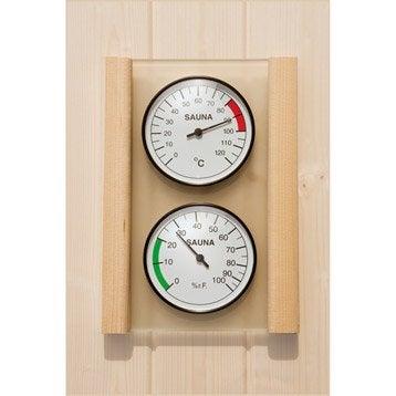 Hygromètre et thermomètre pour sauna WEKA