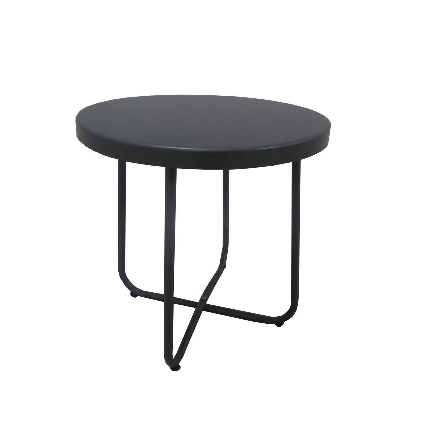 table de jardin bombay ronde anthracite 2 personnes leroy merlin. Black Bedroom Furniture Sets. Home Design Ideas