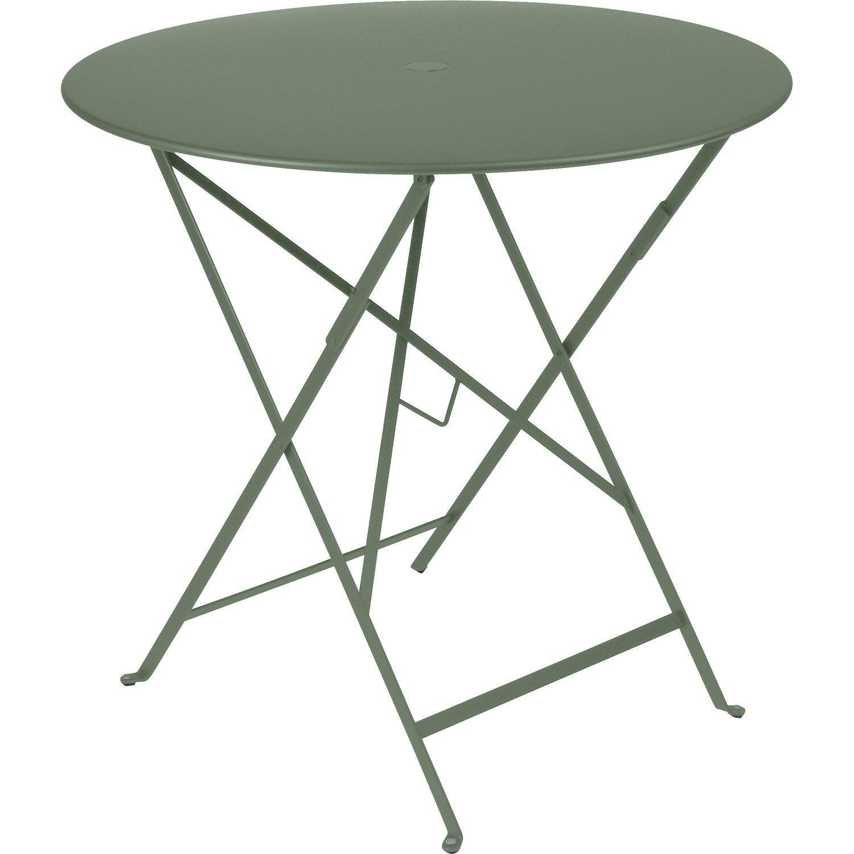Table de jardin de repas Bistro ronde cactus 4 personnes