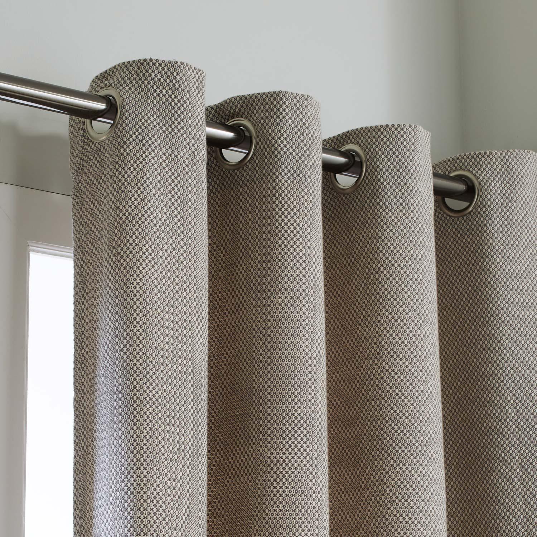 Rideau tamisant, coton, Diana gris l.140 x H.260 cm