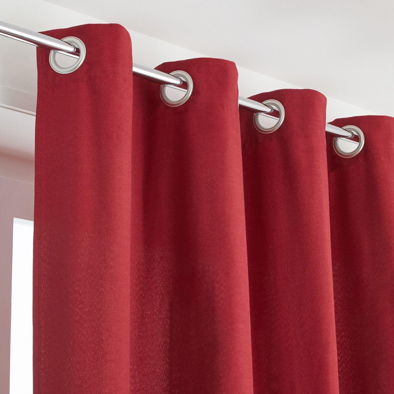 Rideau tamisant, Indigo rouge l.135 x H.250 cm