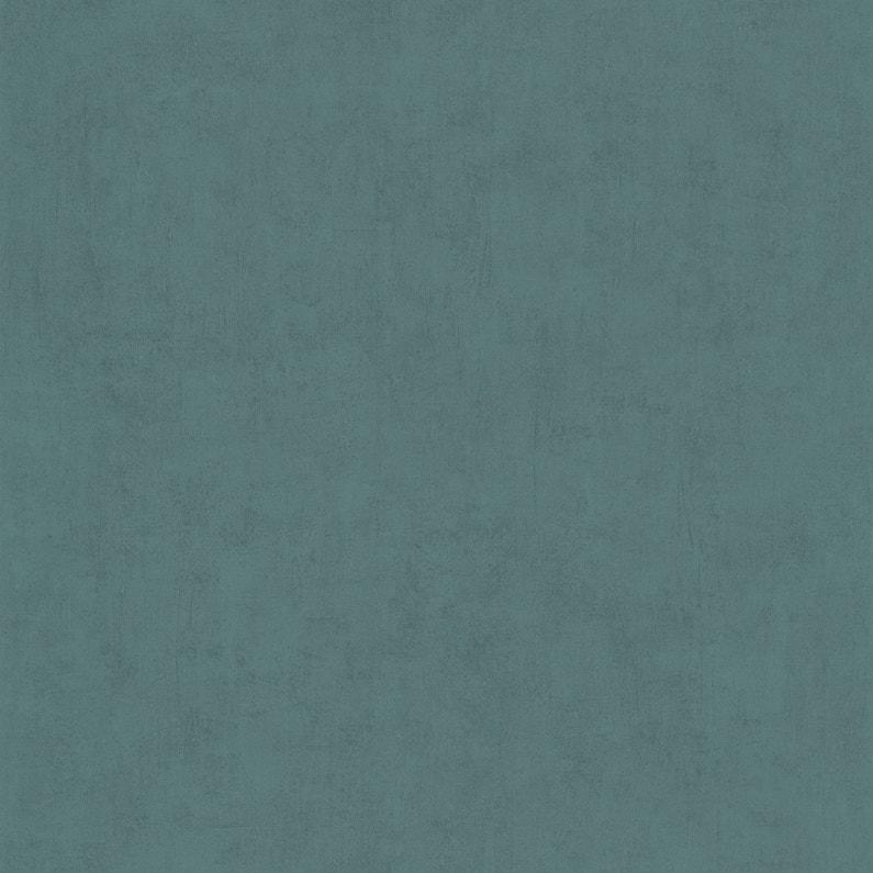 Papier Peint Vinyle Tonic Uni Bleu Canard Leroy Merlin